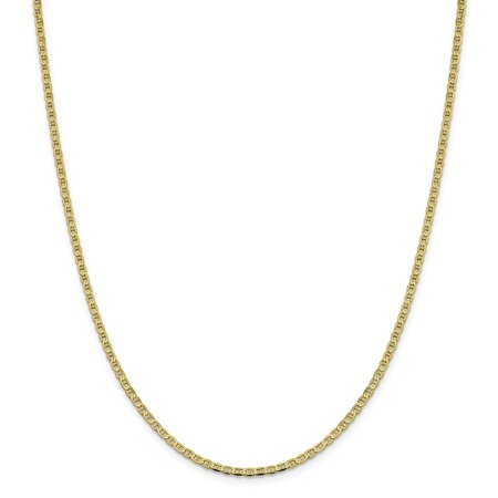 - Lex & Lu 10k Yellow Gold 3mm Flat Anchor Chain Anklet, Bracelet or Necklace
