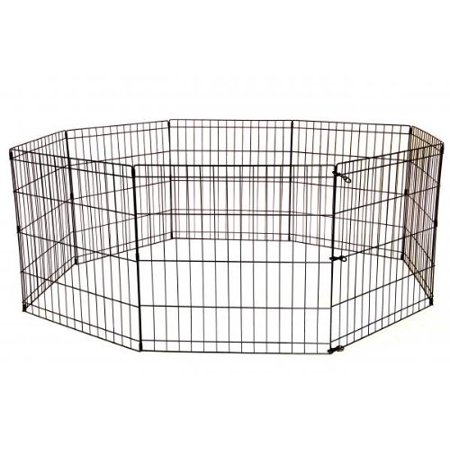Proselect Exercise Pen - 30-Black Tall Dog Playpen Crate Fence Pet Kennel Play Pen Exercise Cage -8 Pa...