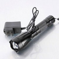 Zimtown LED Rechargeable Flashlight Torch with Charger Black