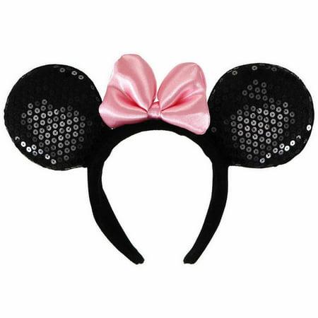 Disney Minnie Mouse Ears Deluxe Headband Child Halloween Costume Accessory - Halloween Makeup Tutorial Princess