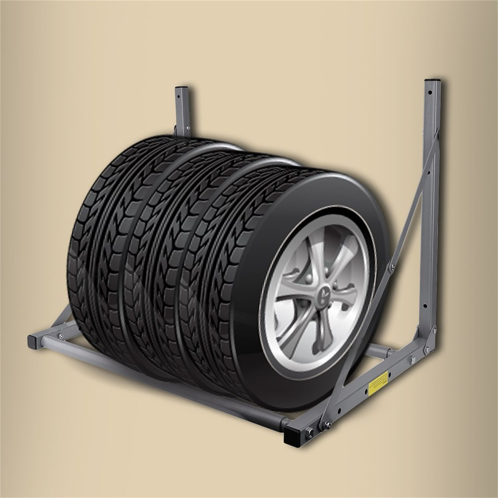 Folding Truck Tyre Wheel Tires Rack Storage Garage Wall Mounted Tire Holder & Folding Truck Tyre Wheel Tires Rack Storage Garage Wall Mounted Tire ...