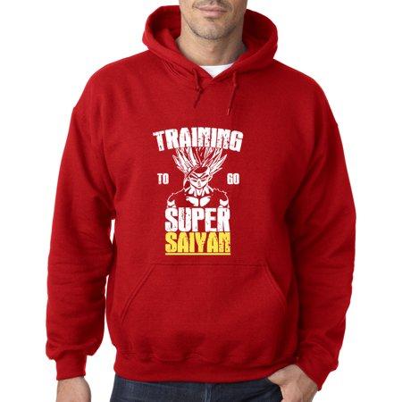 - 636 - Hoodie Training To Go Super Saiyan Dragon Ball Z Dbz Sweatshirt