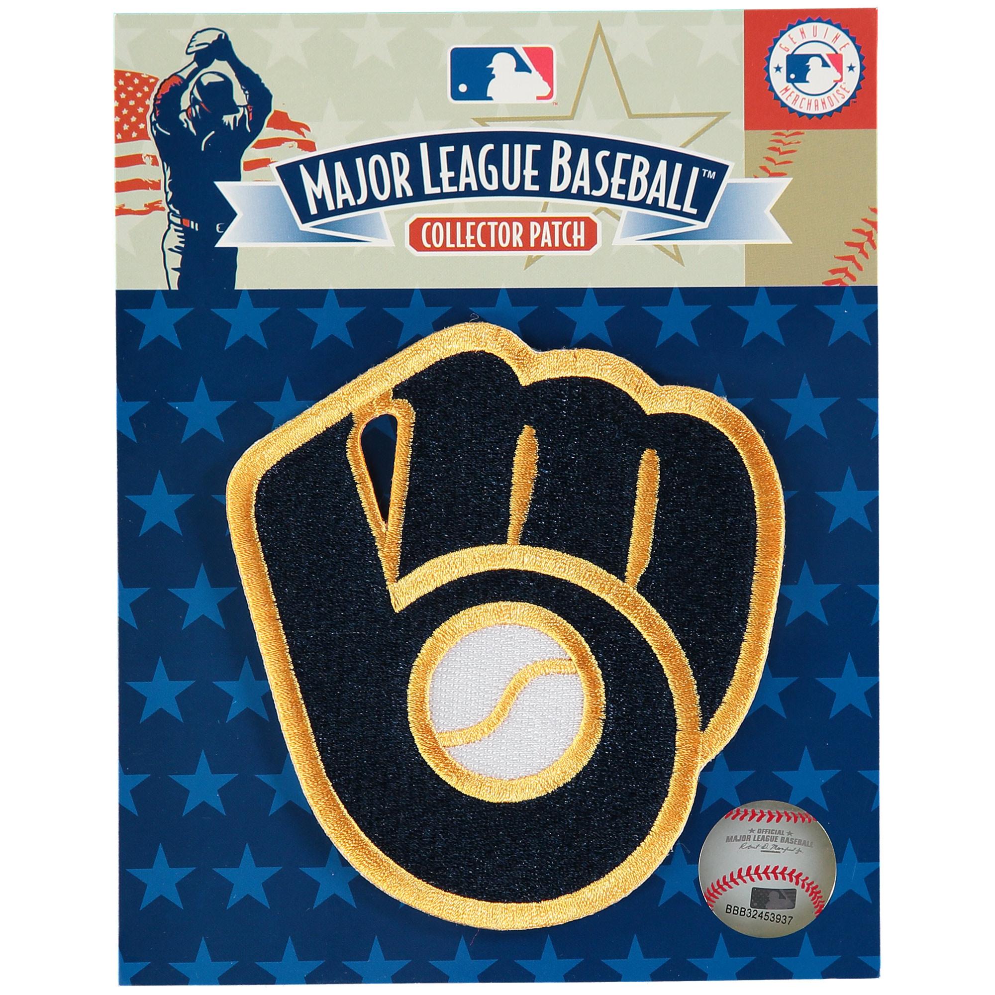 Milwaukee Brewers Retro Ball & Glove Logo Patch - No Size
