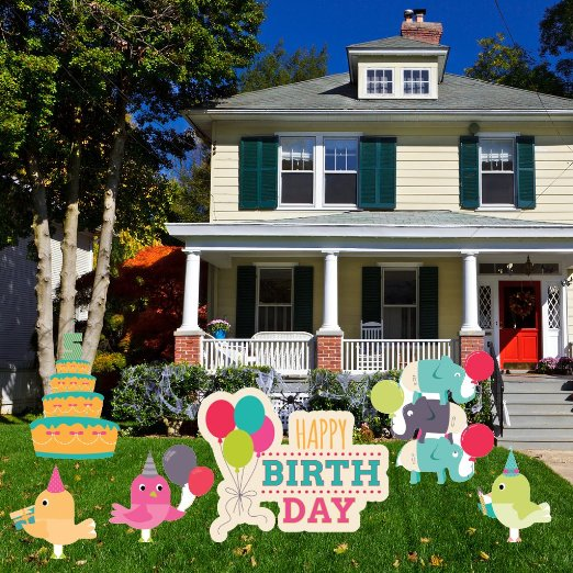 1st Birthday Yard Decoration - Happy 1st Birthday Decoration