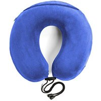 Travelrest - Therapeutic Memory Foam Travel & Neck Pillow - Washable Micro-Fiber Cover - Attaches to Luggage -- Molds Perfectly To Your Neck And Head