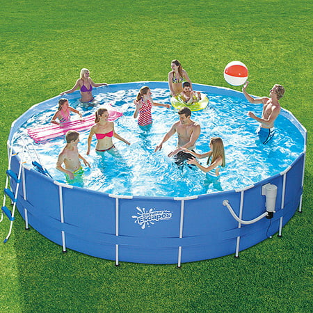 summer escapes 18 x 42 metal frame swimming pool