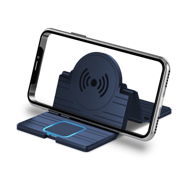 3 in 1 Qi Wireless Car Charger Pad Foldable Fast Charging Stand Dock Car Holder Mount Non Slip Mat For Iphone For Samsung 15W 5V 2A