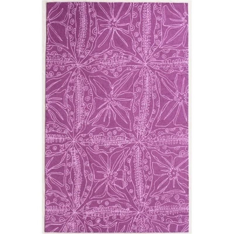 Bowery Hill 8' x 10' New Zealand Wool Rug in Magenta