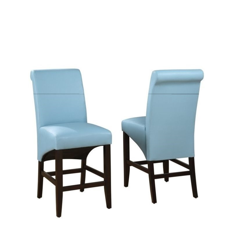 Modus Cosmo Sleigh Back Stool in Sky (Set of 2) by Modus Furniture
