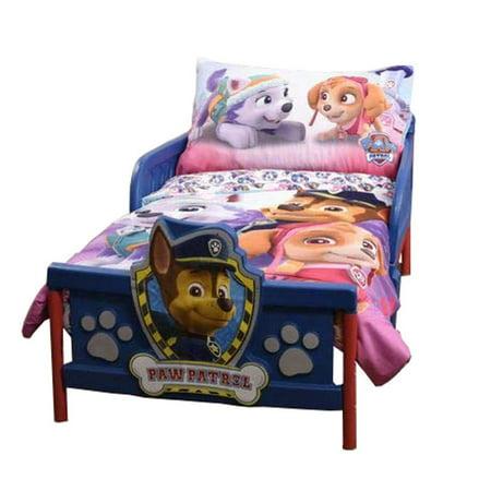 Paw Patrol Pink 3 Piece Toddler Bedding Set - Comforter, Fitted Sheet & Pillowcase [Skye & Everest]