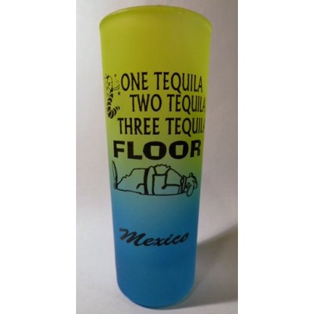 Mexico One Tequila Neon Yellow-Neon Blue Shooter Shot Glass