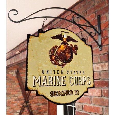 - US Marine Corps Semper Fi NCAA Indoor/Outdoor Wall Mount Bar and Tavern Sign