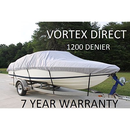 VORTEX BOAT COVER FITS BAYLINER 160 OB / 2001 - 2016 (GREY)