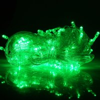 HDE Expandable 100 LED String Lights Fairy Rope Starry Dorm Room Multifunction Lights for Indoor Outdoor Patio Home Holiday Decoration (Green)