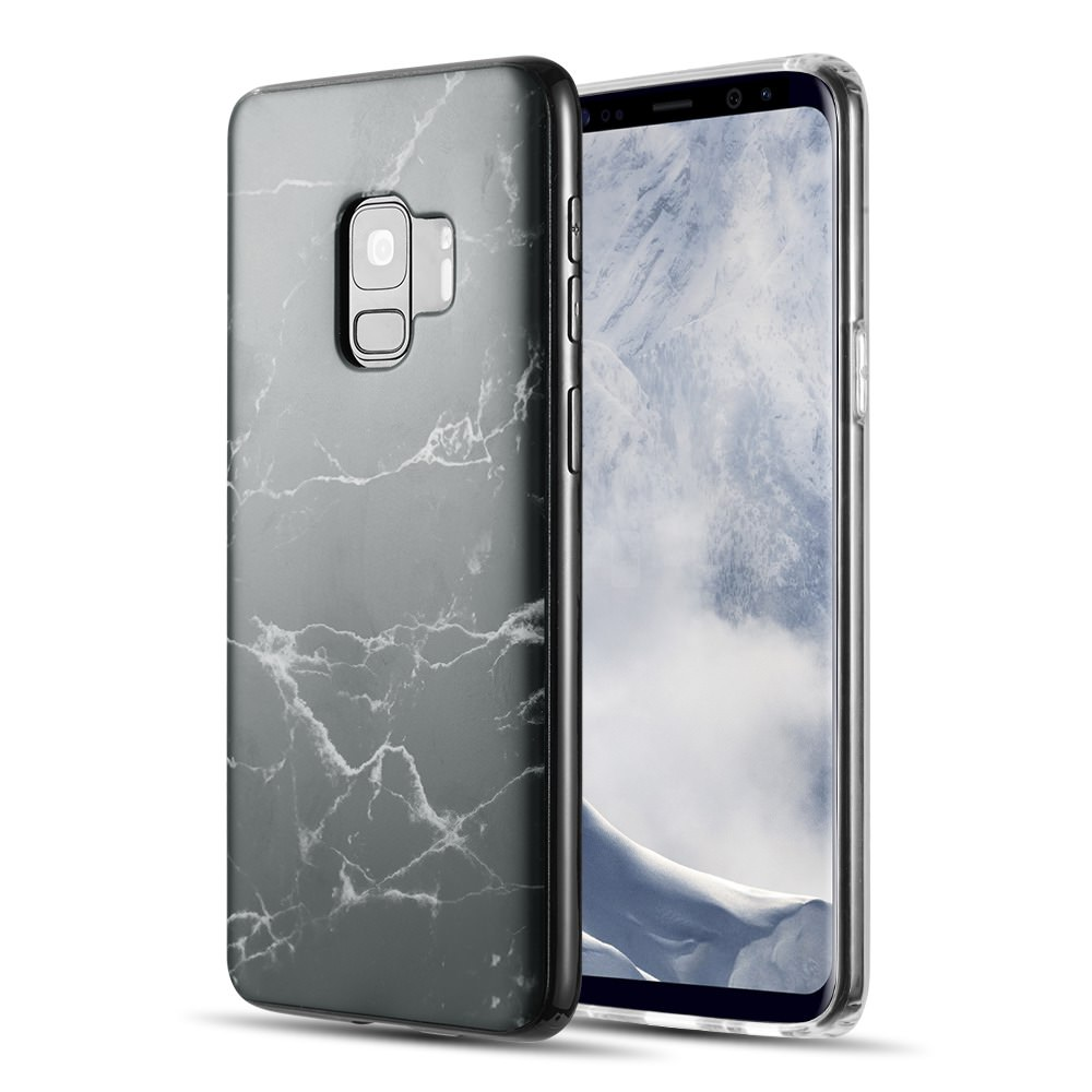 MUNDAZE Classic Black Marble Design TPU Case For Samsung Galaxy S9 Phone