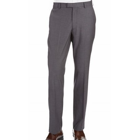Perry Ellis NEW Gray Fog Heather Mens Size 38x30 Flat Front Dress Pants Heathered Mens Dress Pants