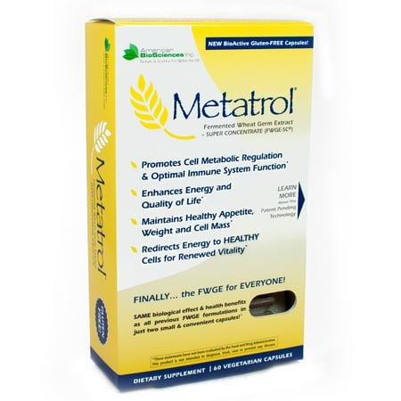 Metatrol Fermented Wheat Germ  By American Bio Sciences   60 Capsules