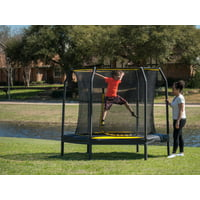 JumpKing 7.5' Trampoline, with Enclosure, Black/Yellow