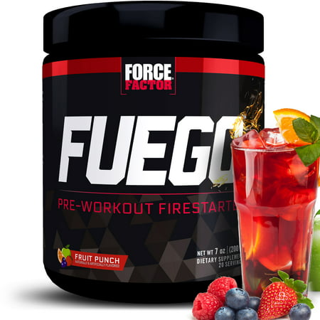 Force Factor Fuego Pre Workout, Fruit Punch, 20