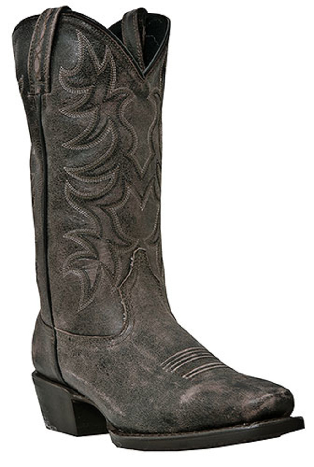 Men's Laredo PIOMOSA Pull On Cowboy Boot BLACK 9.5 D by