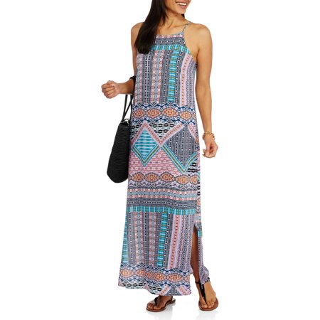 Faded Glory Women S Printed Woven Maxi Dress