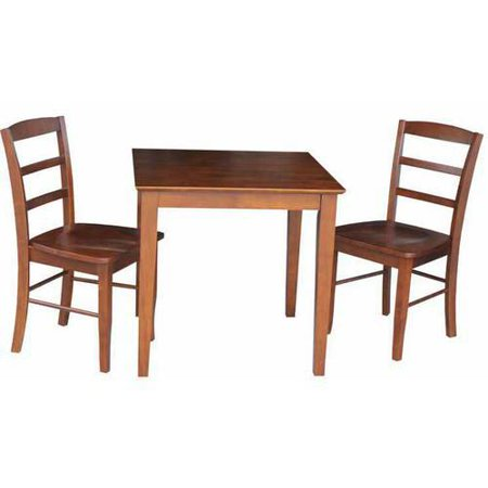 30 x 30 dining table with 2 ladderback chairs. Black Bedroom Furniture Sets. Home Design Ideas