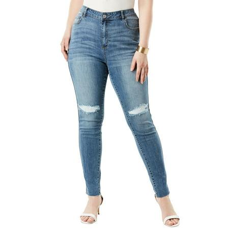 965f2bcd17c9f Roamans - Plus Size High-rise Skinny Jean By Denim 24 7 - Walmart.com