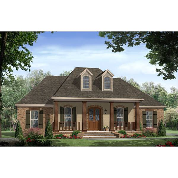 TheHouseDesigners-7683 Southern House Plan with Slab Foundation (5 Printed Sets)