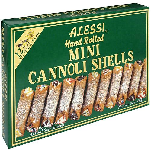 Alessi Hand-Rolled Mini Cannoli Shells, 4 oz (Pack of 12)