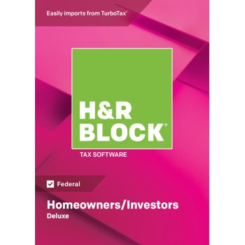H&R BLOCK Tax Software Deluxe 2018 Windows (Download)