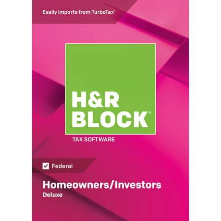 H&R Block Tax Software 2018 Deluxe Win (Email Delivery)