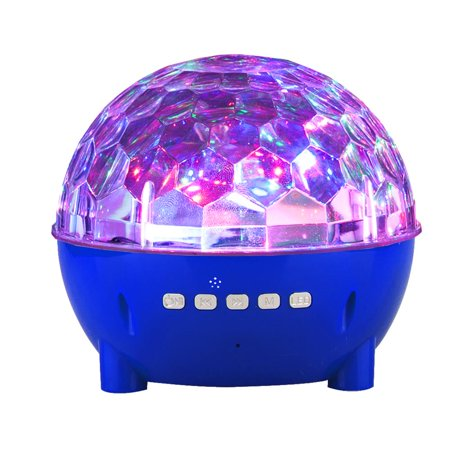 Mini Colorful Stage Lights Wireless Bluetooth Speaker for Motorola Moto G5S Plus,G5S, E4 Plus, E4, Moto C, C Plus, G5, G (5th Gen.), G5 Plus, E3 Power (Blue) (Motorola Wireless Speaker)