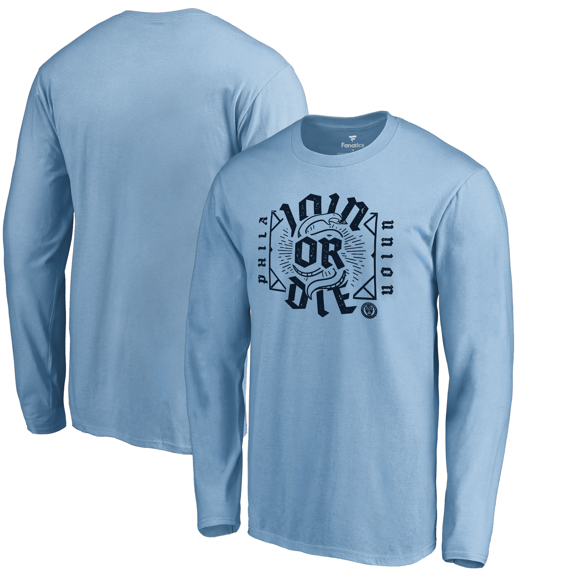 Philadelphia Union Fanatics Branded Hometown Collection Long Sleeve T-Shirt - Light Blue