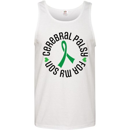 Cerebral Palsy Ribbon (Cerebral Palsy Son Support Ribbon Men's Tank)