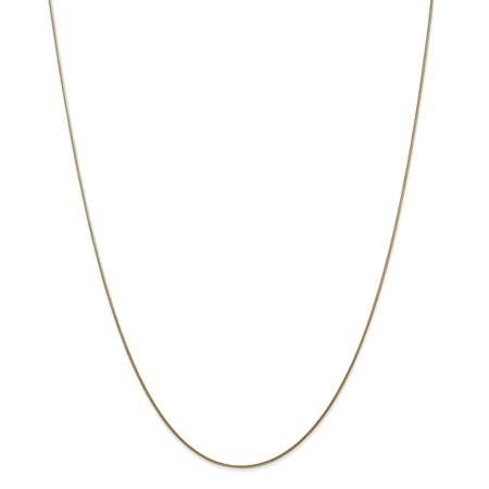 14K Yellow Gold 0.8 MM Octagonal Snake Link Chain Necklace, 16