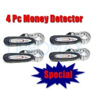 Best Counterfeit Bill Detectors - 4pc Portable Detector UV Mg Counterfeit Fake Dollar Review