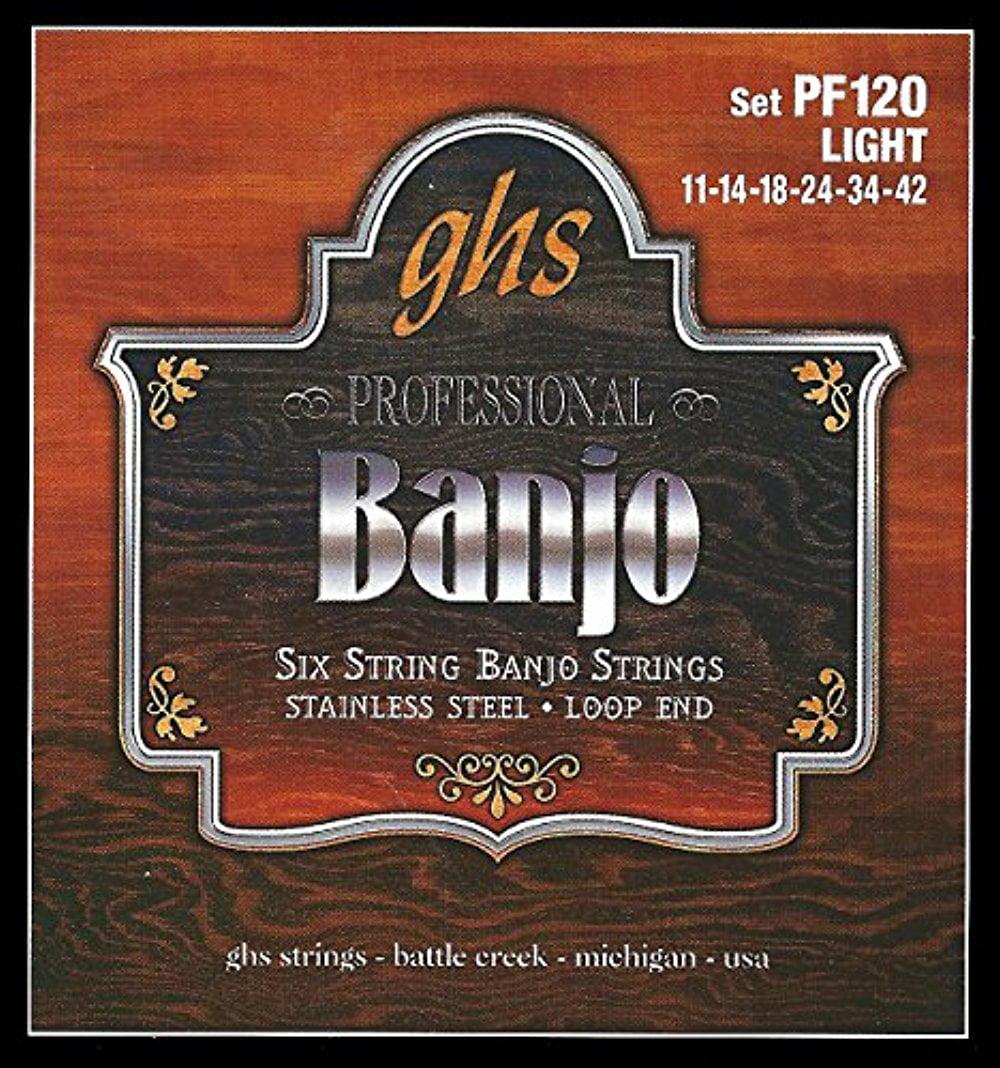 GHS GHS PF120 6STR LS BANJO STR SET SST (Standard) by