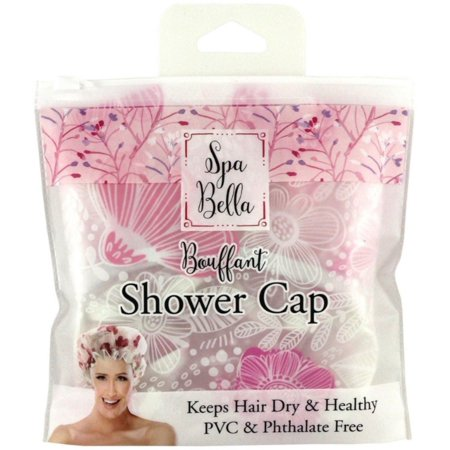Bouffant Mini (Spa Bella Bouffant Shower Cap, Pink)