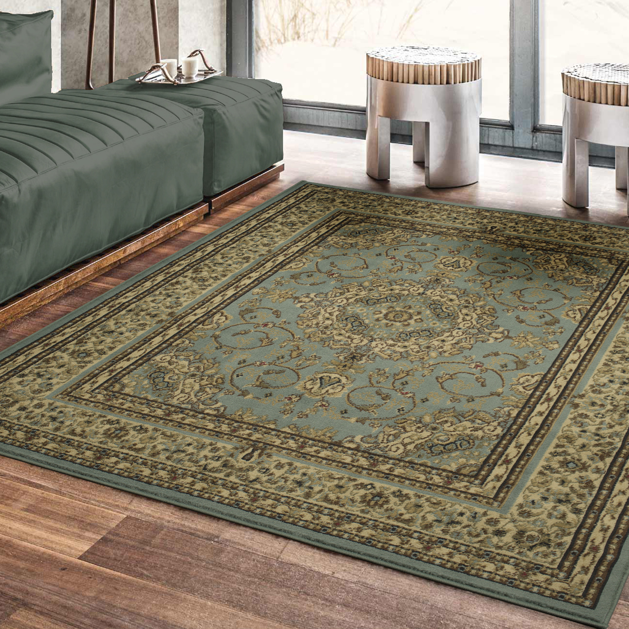 Ottomanson Royal Collection New Oriental Medallion Design Area Rug