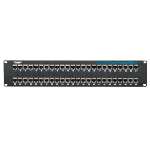 Black Box CAT5e Feed-Through Patch Panel, Shielded, 48-Port