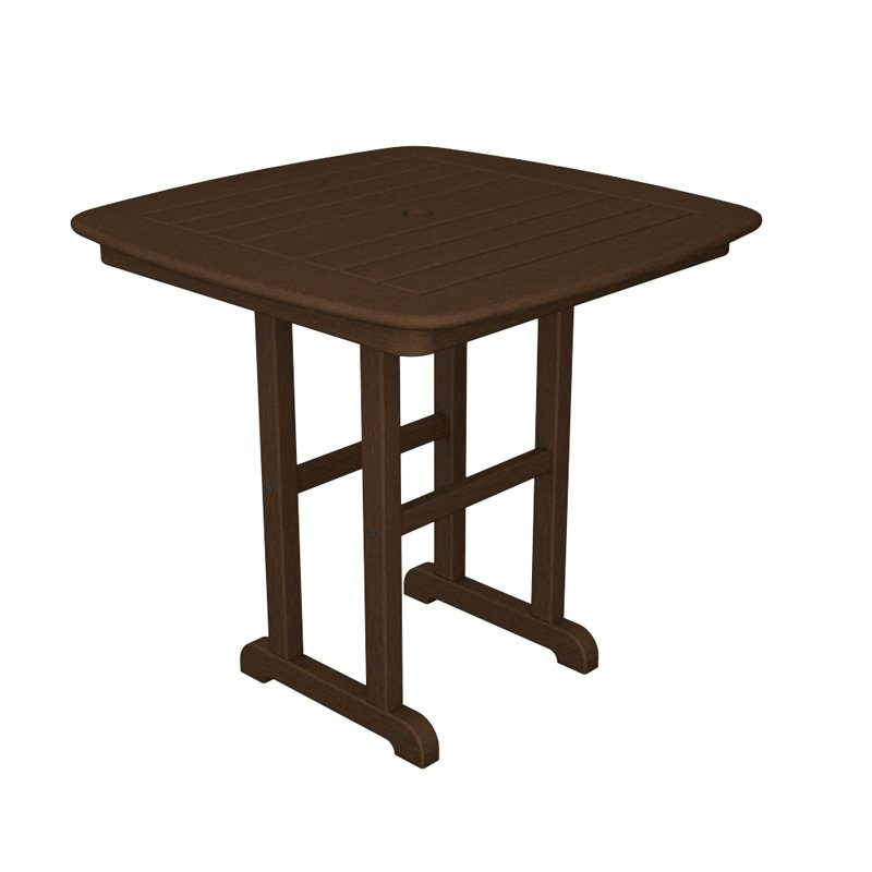 POLYWOOD® Nautical 31 in. Recycled Plastic Dining Table