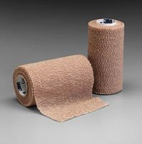 Coban Self-Adherent Wraps -Tan-6'' x 5-yd. roll, Pack of 10