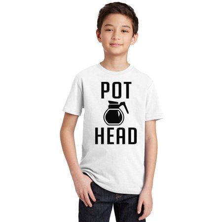 P Coffee Pot Head Youth T-shirt