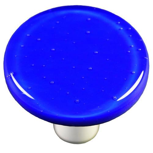 Aquila Art Glass Solids Mushroom Knob