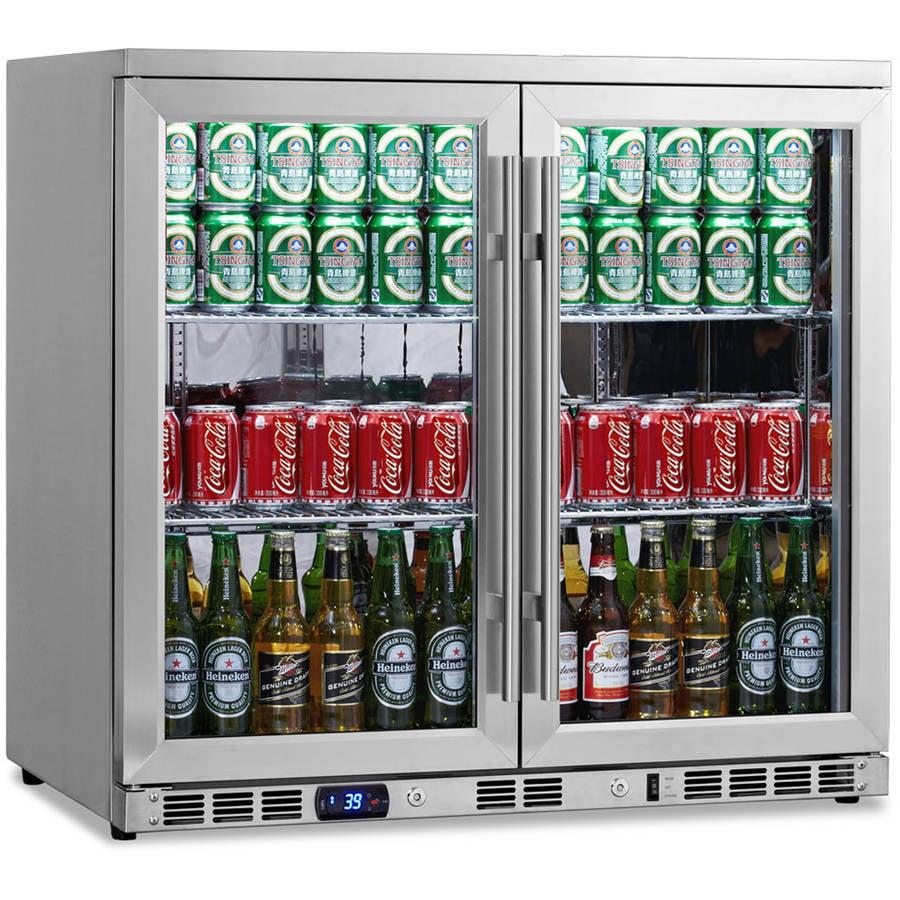 Kingsbottle 169-Can Stainless Steel Beverage Fridge
