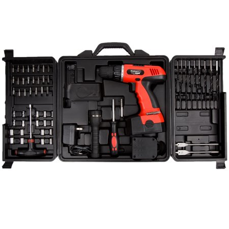 Cordless Drill Set 78 Piece Kit 18 Volt Power Tool With Bits