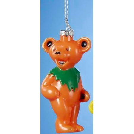 Grateful Dead Christmas Ornament.3 5 Orange Grateful Dead Dancing Bear Decorative Christmas Ornament