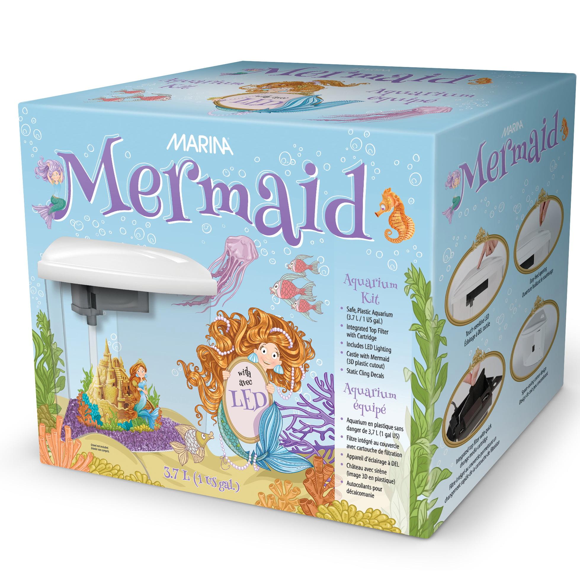 Marina Mermaid Aquarium Kit, 1-Gallon