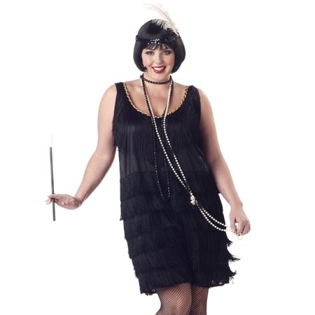 Flapper Fashion Adult Halloween Costume - Ladies Halloween Costumes Size 16-18