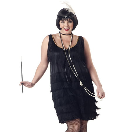 Flapper Fashion Adult Halloween Costume](Old Fashioned Costumes)
